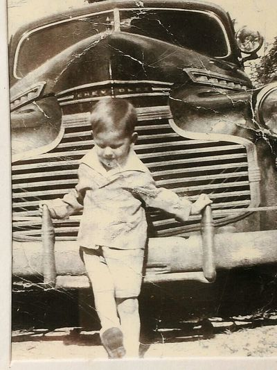 Just a boy and his car... Kickinitoldschool