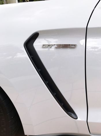 EyeEm Selects Hockeystick Gt350 Mode Of Transport Car Transportation Land Vehicle Metal Silver Colored No People Stationary Close-up Vehicle Part Outdoors Day Car Door Quarter Panel