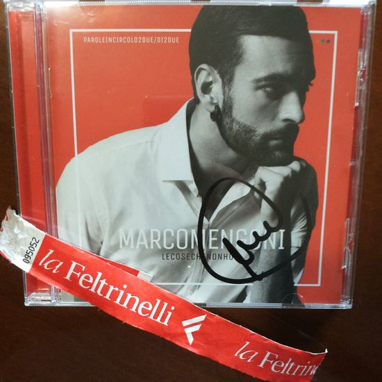 One week ago. My happiness. Marco Mengoni Instore Red Music Missing Him Le Cose Che Non Ho