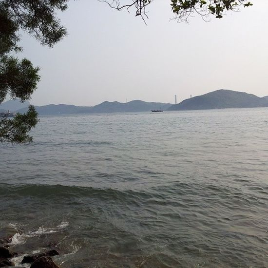 Looking at Lammaisland . HongKong Sea