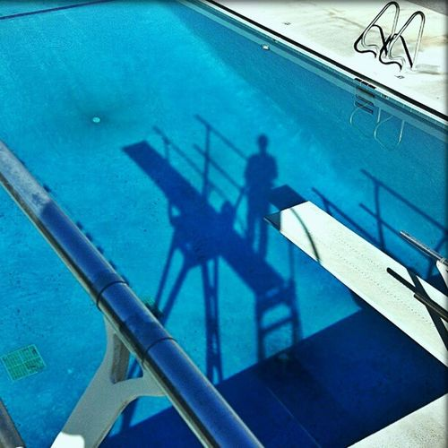 Let Go Poolside Blue Dive TheViewFromUpHere