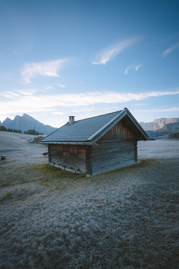 Who's moving in with me? Check out my prints at http://simonmigaj.com/shop/ and visit my IG http://www.instagram.com/simonmigaj for more inspirational photography from around the world. Alps Dawn Mountains Seiseralm Alpe Di Siusi Hut Wood Graas Frost Water Mountain Beach Sea House Sky Architecture Building Exterior Cloud - Sky Built Structure Hut Log Cabin Cottage Chalet Holiday Villa Stilt House Roof Tile Thatched Roof Beach Hut Roof Shack