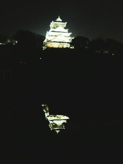 大阪城 Castle Twins Reflected In Water