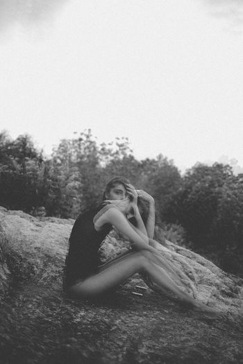 Oh, your mind wants to leave but you can't go Young Adult Beautiful Woman Portrait Relaxation Beauty Outdoors Eye4photography  Eye Em Photography EyeEm Best Shots EyeEm Selects Be. Ready.