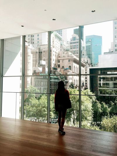Moma Museum Modern Art New York New York City Manhattan One Person Window Architecture Indoors  Real People People Lifestyles Day City EyeEm Ready   EyeEmNewHere AI Now