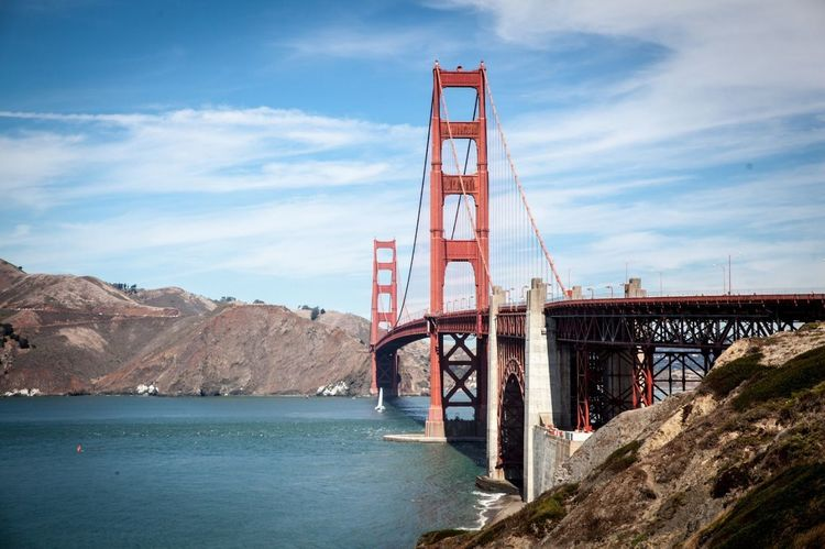 Bridge - Man Made Structure Built Structure Water Architecture Sky Day Outdoors Sea Sunny Bridge Golden Gate Bridge San Francisco