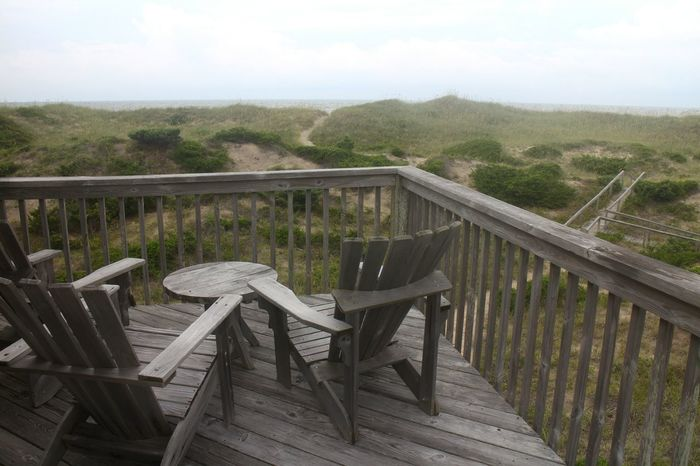 Outer Banks, NC North Carolina Cloudy Day Dunes Porch Chairs