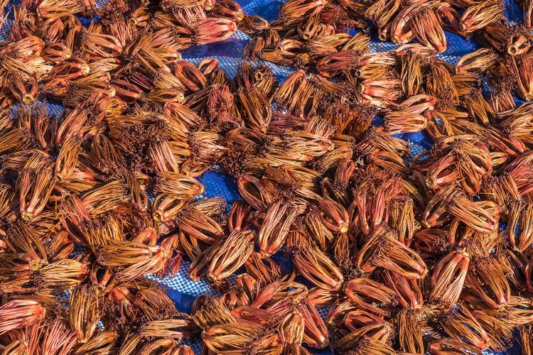 Full frame shot of spices in market for sale