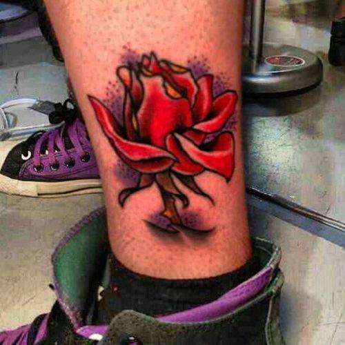 tattoo Tatcave Fyfnation Rosé flower traditional