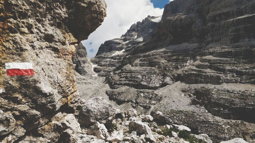 Verso la bocca del Tuckett. Dolomites Dolomites, Italy Trentino  Mountain Backgrounds Snow Full Frame Sky Close-up Rocky Mountains Rock Formation Rock - Object Natural Arch Canyon