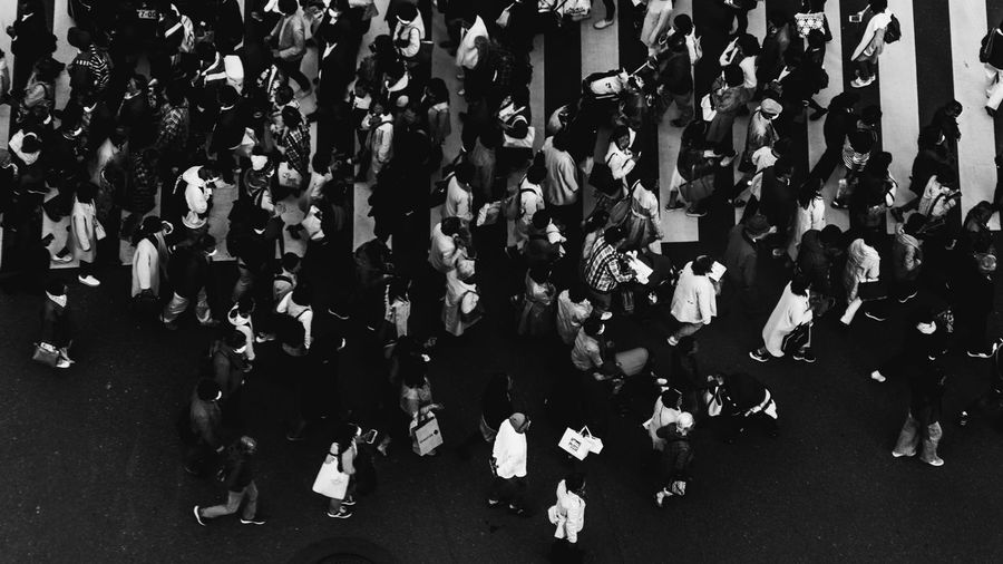 crowded Tokyo Street Photography Traveling Adult Blackandwhite Photography City City Life Crowd Day Group Of People High Angle View Large Group Of People Leisure Activity Lifestyles Men Outdoors Real People Road Spectator Standing Street Transportation Travel Destinations Walking Women Zebra Crossing Adventures In The City