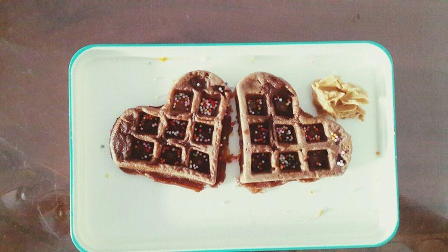 Waffle Chocolate Pancakes Food