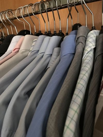 Coathanger Clothing Hanging No People Choice Clothes Rack Menswear Neat Close-up Boutique Indoors  Day Shirt Shirts Business