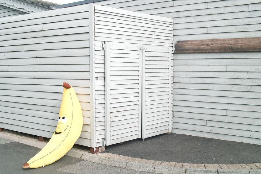 Banana Face Giant Giant Banana Object Sight Sightseeing Street Street Photography Stuffed Banana Stuffed Toy Visual Creativity