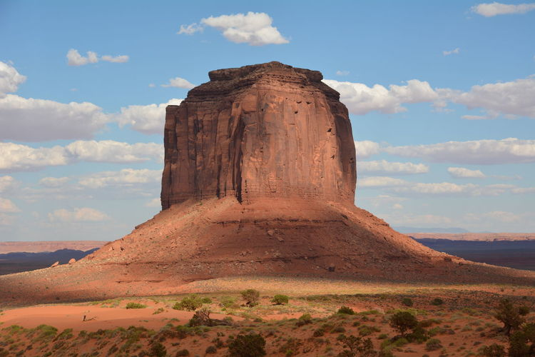 Majestic rock formation in the desert