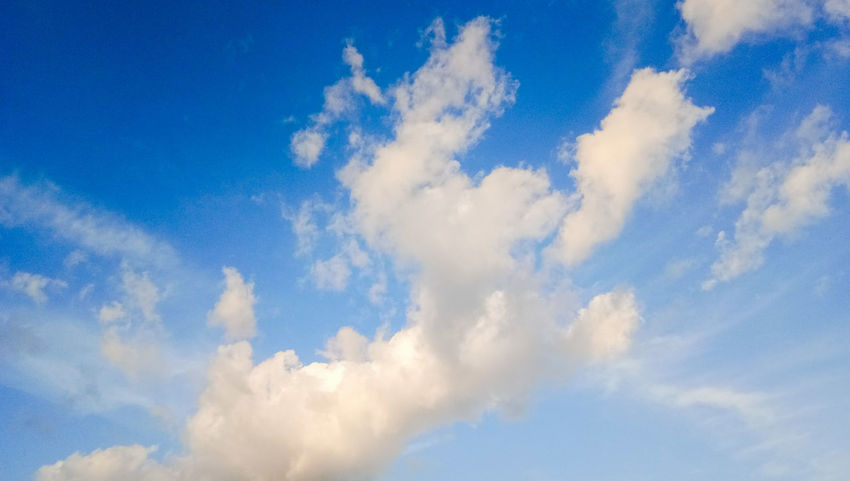 Cloud - Sky Blue Sky Nature Day No People Outdoors Close-up Multi Colored Summer Beauty In Nature Backgrounds Sky Only