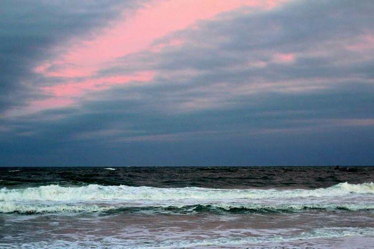 Storm. Outdoors Nature Ocean OBX North Carolina Pea Island Storm Sunset Atlantic Ocean