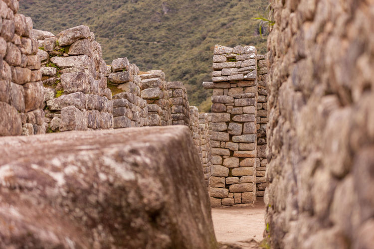 Old ruins of machu picchu