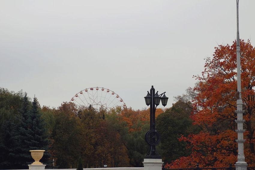 Autumn Autumn Colors Belarus Ferris Wheel Gorky Park Soviet Era Soviet Soviet Architecture Travel Destinations