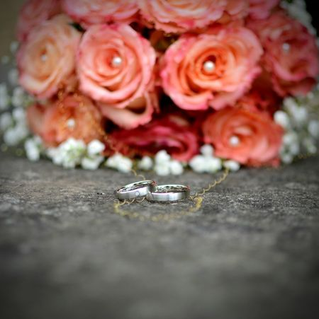 Rosé Brautstrauss Hochzeitsringe Justmarried Wedding Rings Weddingflower Wedding