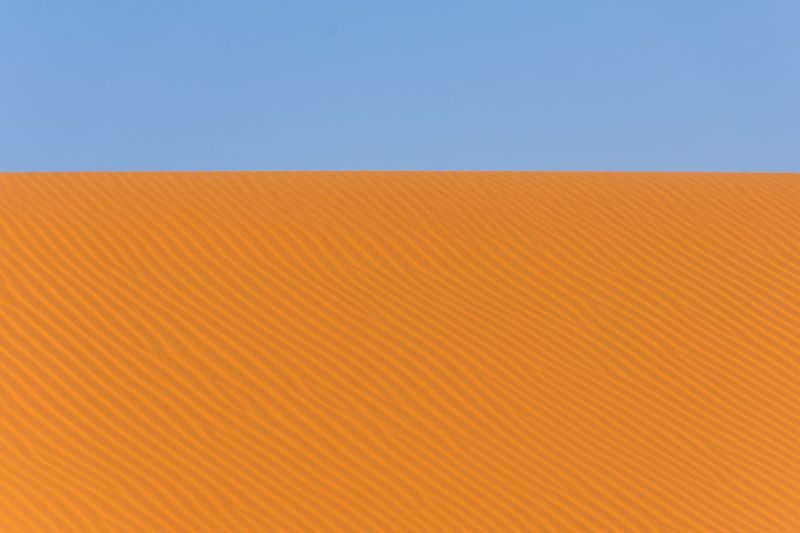 My Year My View Backgrounds Orange Color Blue Nature Environment Sand Dune Clear Sky Textured  Sparse Sky No People Outdoors Day Close-up
