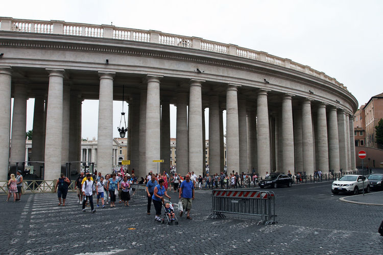 Vatican Adult Architectural Column Architecture Building Exterior Built Structure City Crowd Day Group Of People History Large Group Of People Men Nature Outdoors Real People Sky The Past Tourism Travel Travel Destinations Women