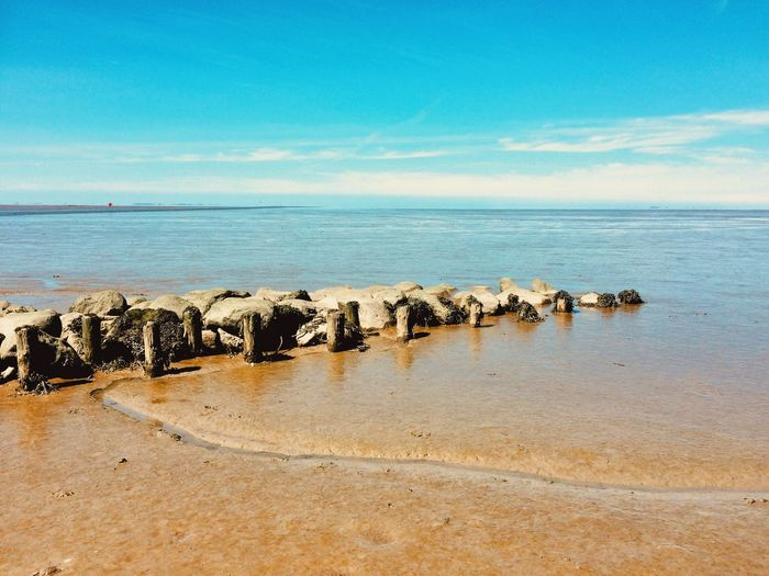 Denmark Sea Water Beach Land Sky Tranquility Horizon Over Water Tranquil Scene Beauty In Nature Scenics - Nature Sand Horizon Idyllic Day No People Nature Blue Outdoors