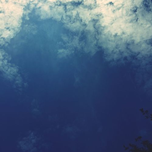 Blue Beauty In Nature Low Angle View Scenics Tranquility Sky Sky Only Nature Backgrounds Full Frame Cloud - Sky Majestic Cloud Cloudscape Day Outdoors Cloudy Heaven Meteorology