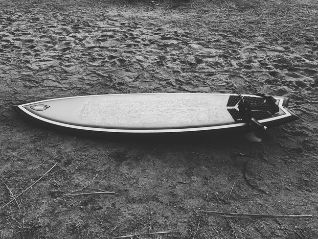 Let's go surfin' Surfboard Fun Catching Waves Surfing High Angle View No People Outdoors Day Close-up Sports Photography Sport Blackandwhite