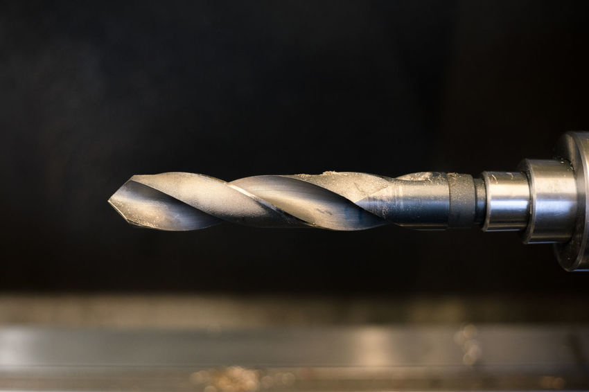 Drill bit Industry Mechanical Production Black Background Bokeh Close-up Dof Drill Bit Indoors  Mechanical Engineering Metal Work No People Technology