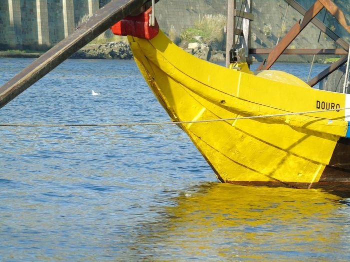 yellow boat on