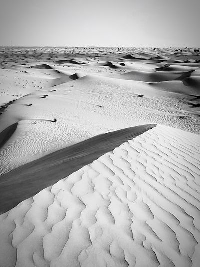 Dunes, Desert of Al Faqaa, Dubai Emirates, United Arab Emirates 🇦🇪 Sand Tranquil Scene Tranquility Nature Sand Dune Sea Beauty In Nature Water Outdoors Arid Climate Day No People Sky Middle East Desert Dunes Blackandwhite Isolated Landscape Environment Beauty In Nature Safari Tourism Waves, Ocean, Nature
