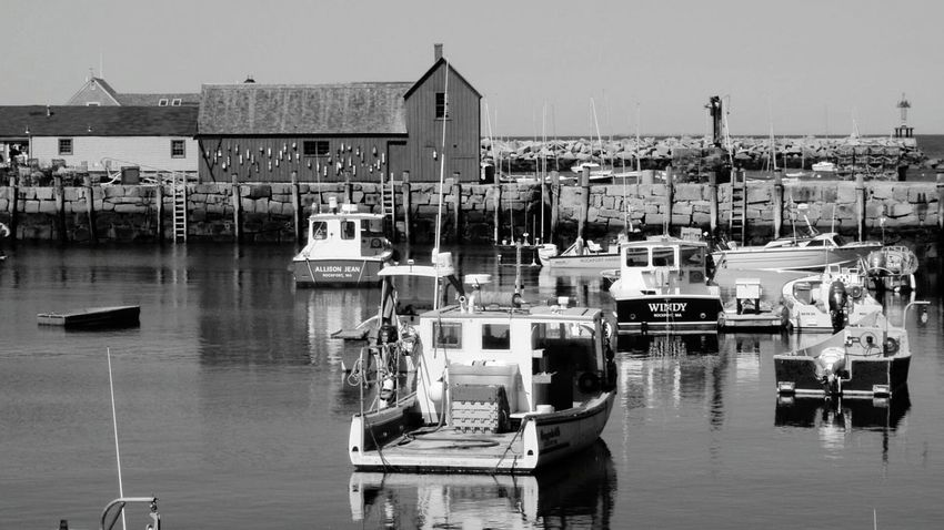 Motif 1 Rockport Ma Rockport Harbour Harbour View Tourist_spot moored Boats Black & White edit eyeem gallery EyeEm Olympus Tough
