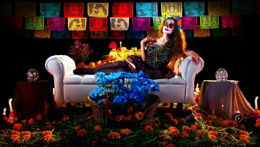 Women Glamour Dıa De Muertos Fashion Photography Mask - DisguiseFashion Celebration One Person Catrina Catrinamakeup People Women Around The World
