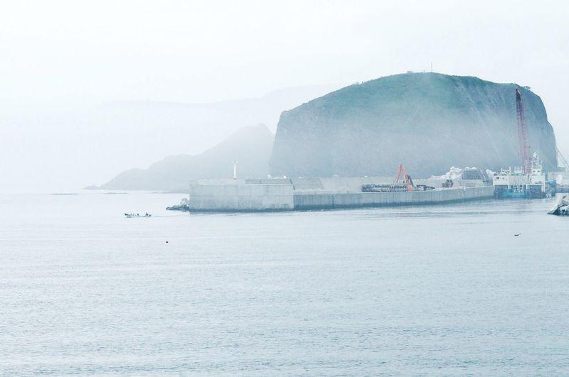Mist Misty Morning Sea Sky Dullday Nature Nature Photography Rock Japan Hokkaido Shiretoko Utoro Sea Of Okhorst