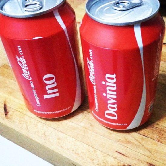 Compartecocacolacon Davinia y sus Cocacola Personalizada