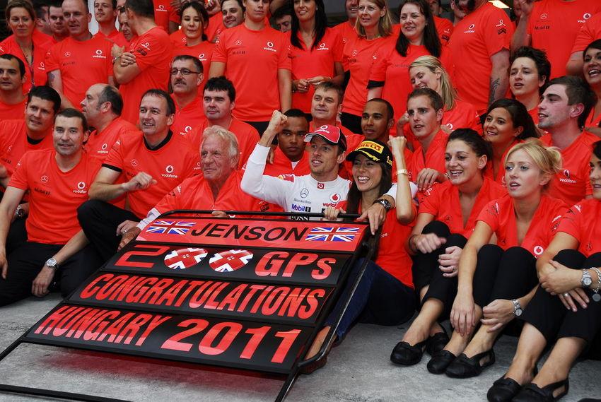 Formula 1 Hungaroring Jenson Button McLaren Racecar Watching Formula 1 Win Winners World Champion
