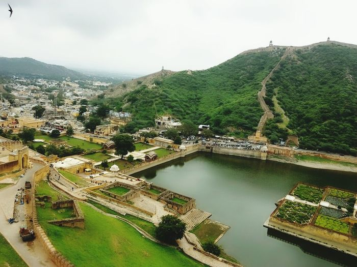 Maota Lake By City Seen From Amber Fort