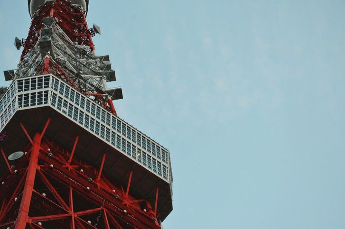 The Architect - 2016 EyeEm Awards Towers And Sky Tokyo Tower Architectural Detail Red And White Radio Tower How Do We Build The World? Architecture Landmark Envision The Future