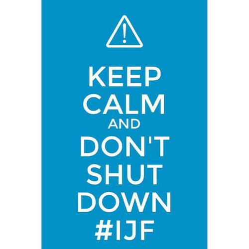 Created with @kcacoapp KeepCalmAnd Donotshutdownijf @journalismfestival