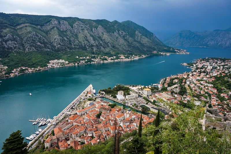 Mediterranean  Old Town Travel Traveling View Architecture Bay Beauty In Nature Building Exterior Built Structure Cityscape High Angle View Kotor Montenegro Nature Nautical Vessel Outdoors Scenics - Nature Town TOWNSCAPE Travel Travel Destinations Tree View From Above Water