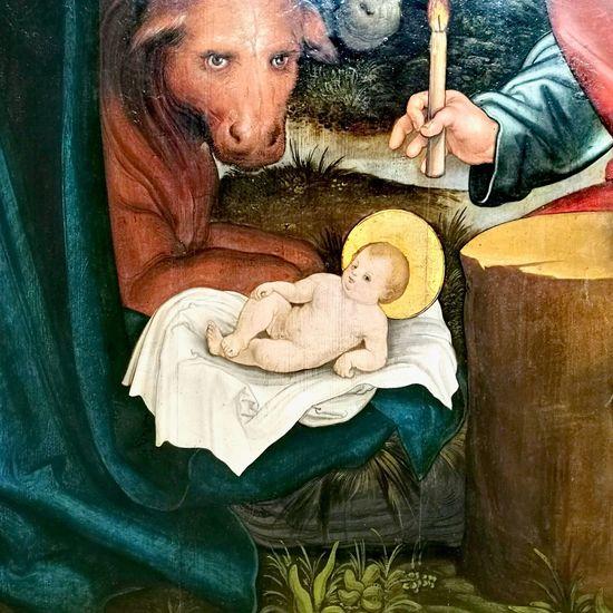 Lässig Jesus Christ Firendly Cow Renaissance Baby Hamburger Kunsthalle