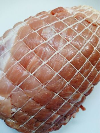 fresh roast pork Roast Pork Close Up Meat Pig Plate Dish White Plate White Dish Pork Roast Roast Tasty Delicious Meat Close-up Food And Drink Processed Meat Unhealthy Lifestyle Pork