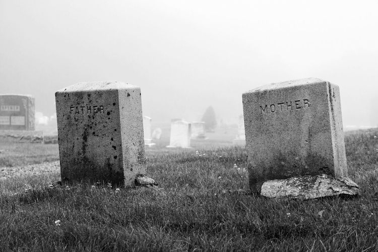 Black And White Friday Memorial Tombstone Cemetery The Past Day Gravestone History Field Outdoors Grass No People Graveyard Ancient Clear Sky Nature Landscape Sky Architecture