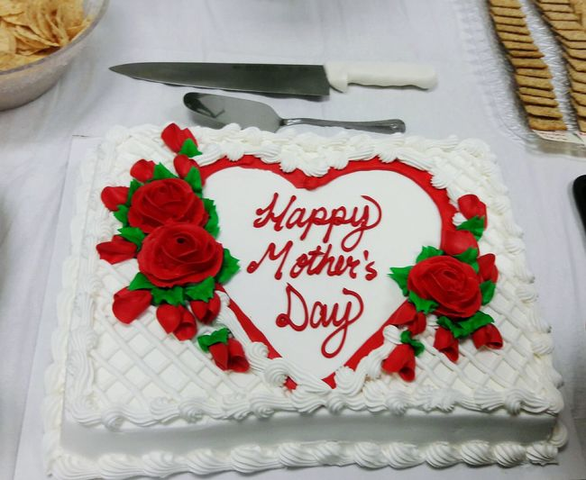 Happy Mother's Day Cake, Text Red Rose - Flower Love No People Flower Indoors  Sweet Food Food Day Close-up
