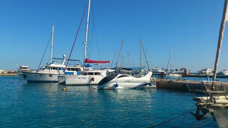 Boats Daylight Egypt Hurghada Sea Marina RedSea Sea Sky