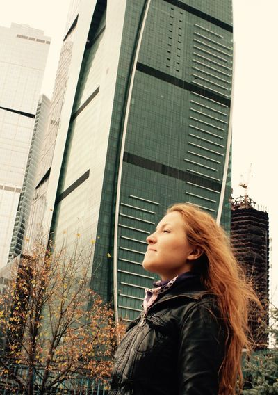 Breathing Moscow. It was long-long time ago and I was red) Architecture Autumn Autumn Colors Breath Breathing Breathtaking Building Built Structure City City Life Girl Lifestyles Long Hair Low Angle View Modern Moscow Moscow City Moscow Life Outdoors Portrait Red Hair Urban Lifestyle Young Women Fall Beauty Fall Colors