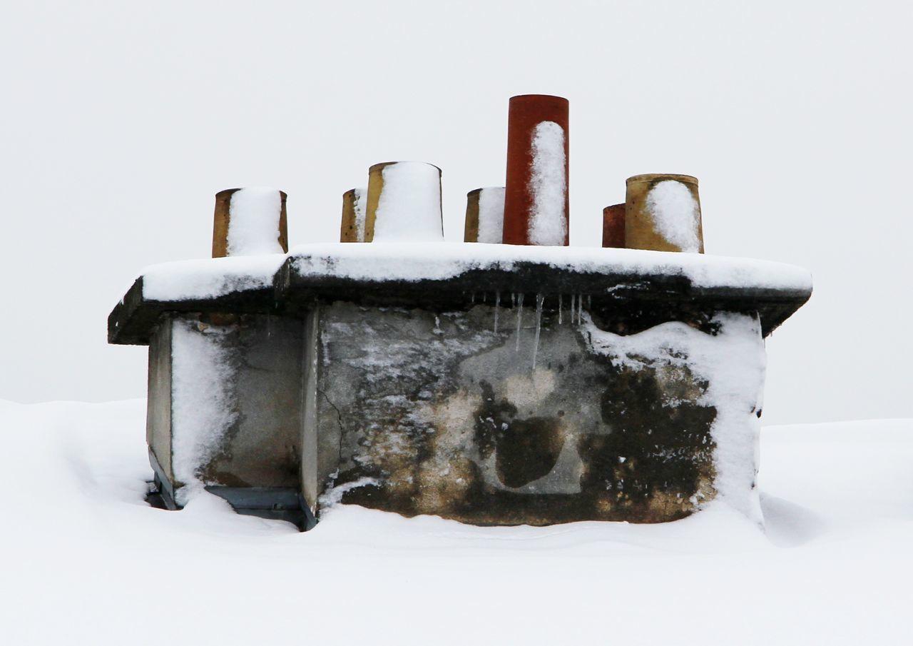 CLOSE-UP OF ICE ON WHITE BACKGROUND