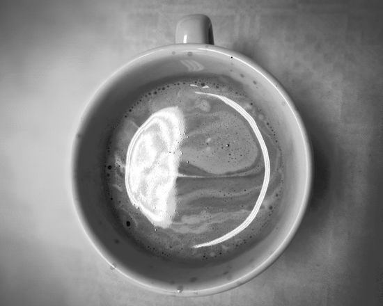 EyeEmNewHere Machiatto Machiatto Coffemug Mug Grey Coffee Contrast Blackandwhite Drink Refreshment Indoors  Food And Drink No People Table Directly Above Close-up