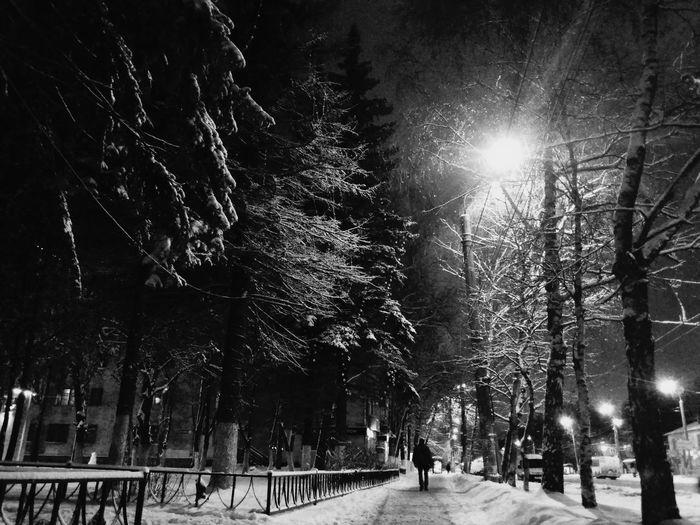 НижнийНовгород ночной город Россия заснежило Russia Night